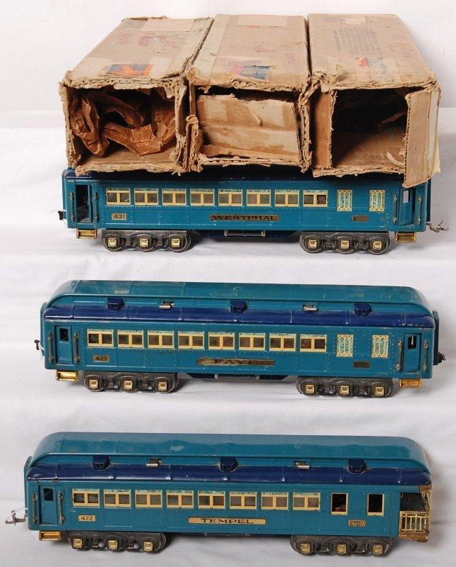 878: Lionel 420 Faye, 421 Westphal, 422 Tempel Blue Com