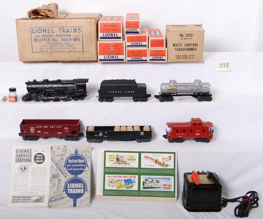 1038: Lionel 1469WS 027 freight train in OB w/2035, 646