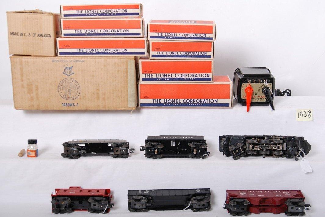 1038: Lionel 1469WS 027 freight train in OB w/2035, 646 - 3