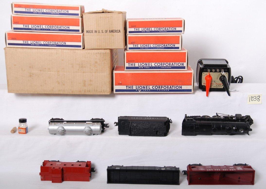 1038: Lionel 1469WS 027 freight train in OB w/2035, 646 - 4