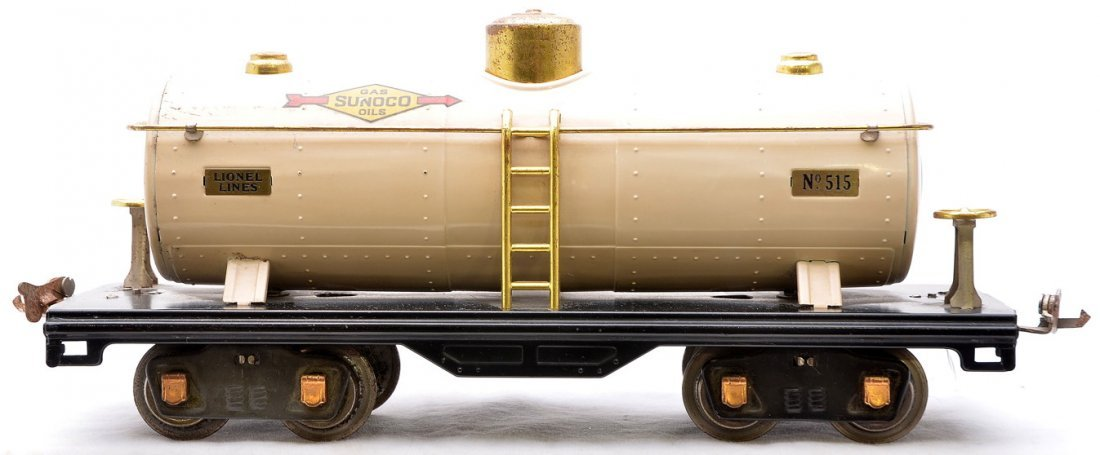 7: Lionel 515 Ivory Tank w/Sunoco Decals