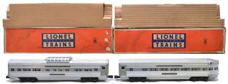 167: Lionel Aluminum Pass Cars 2532 2531 Boxed