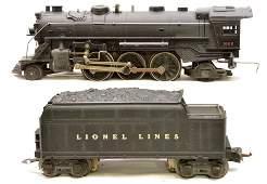 243: Lionel Prewar 1666 Steam Loco 2666T Tender