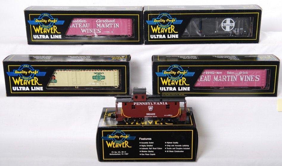 20005: Weaver Pennsylvania brass caboose and 4 refriger