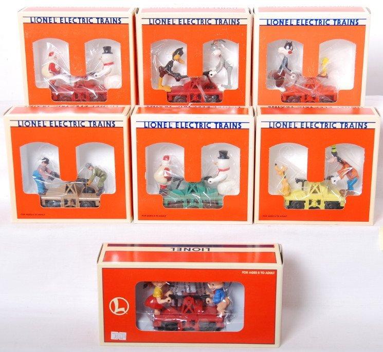 20006: 7 Lionel handcars 18422, 18425, 18521, etc.