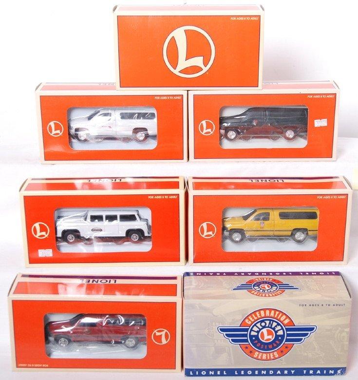 20008: 7 Lionel on track trucks 18440, 18438, 18436, et