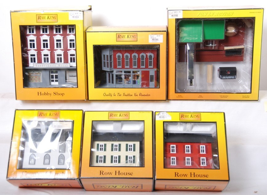 20024: 6 Railking buildings and accessories