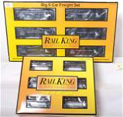 20029 Railking CO hoppers and Hill Crest lumber cars