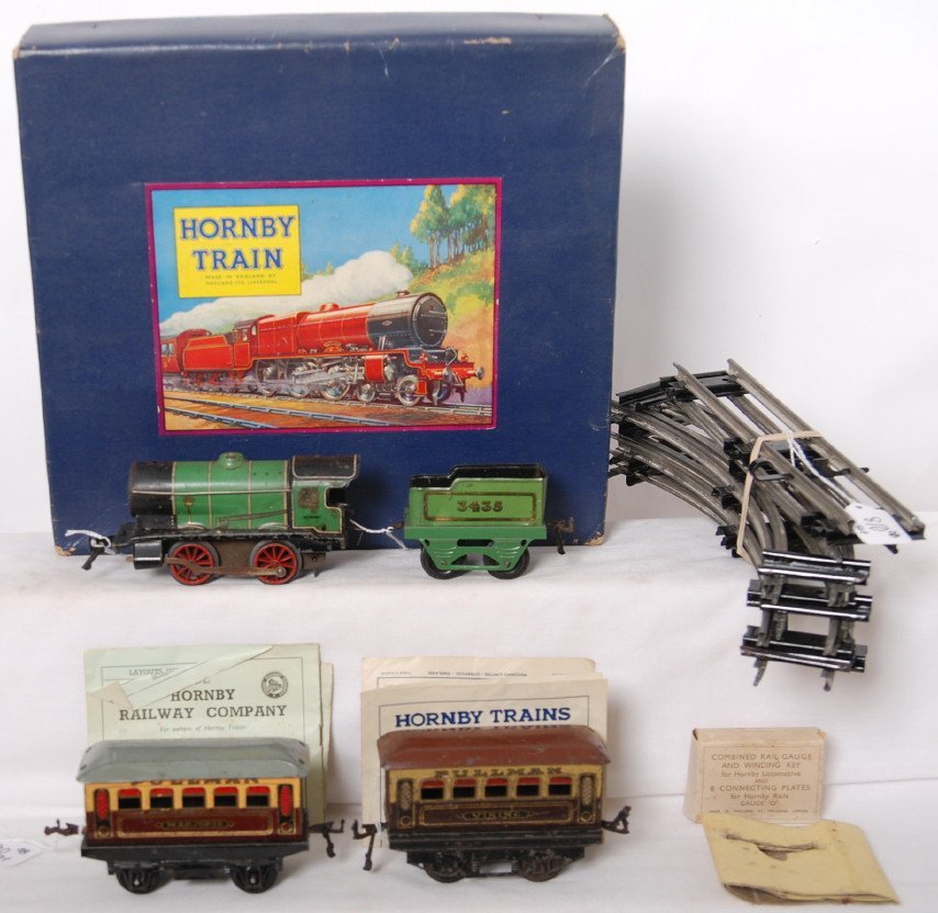 810: Hornby M1 clockwork passenger train set in origina