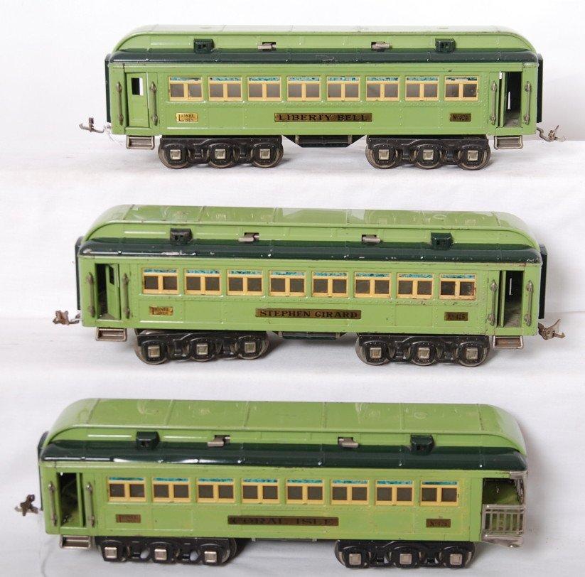 813: Lionel 424, 425, 426 Stephen Girard passenger cars