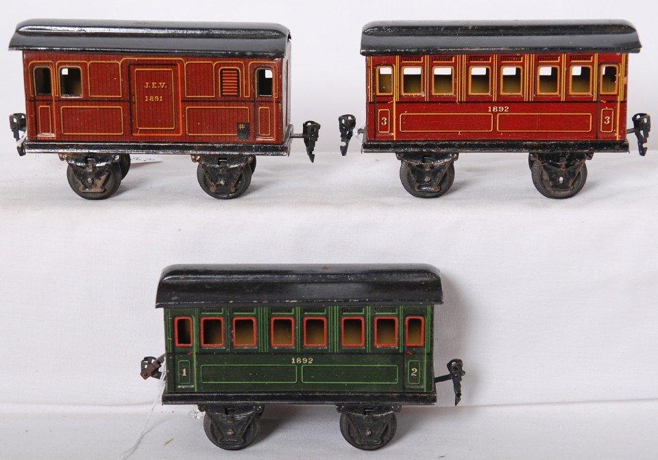 818: Marklin gauge 1 J.E.V. 1891, 1892, 1892 passenger