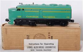 989: Lionel 228P Canadian National Alco diesel in OB