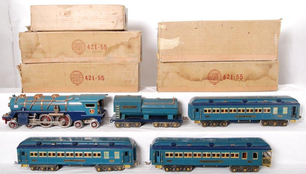 1358: Lionel 400E, 400T, 420, 421, 422 Blue Comet S.G.