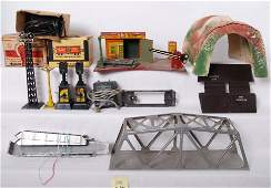 1412 Large group of Marx Flyer and Lionel trains and