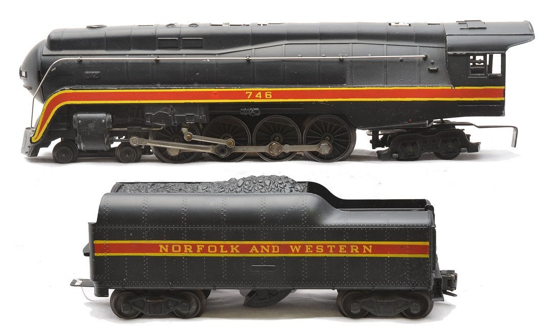 Lionel 746 N&W Northern Loco Long-Striped Tender