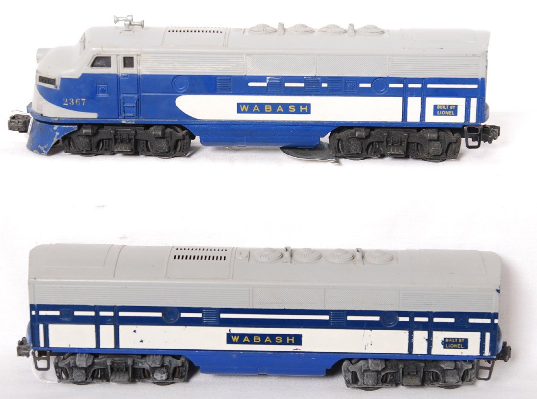 Lionel 2367P and 2367T Wabash F3 A-B diesels