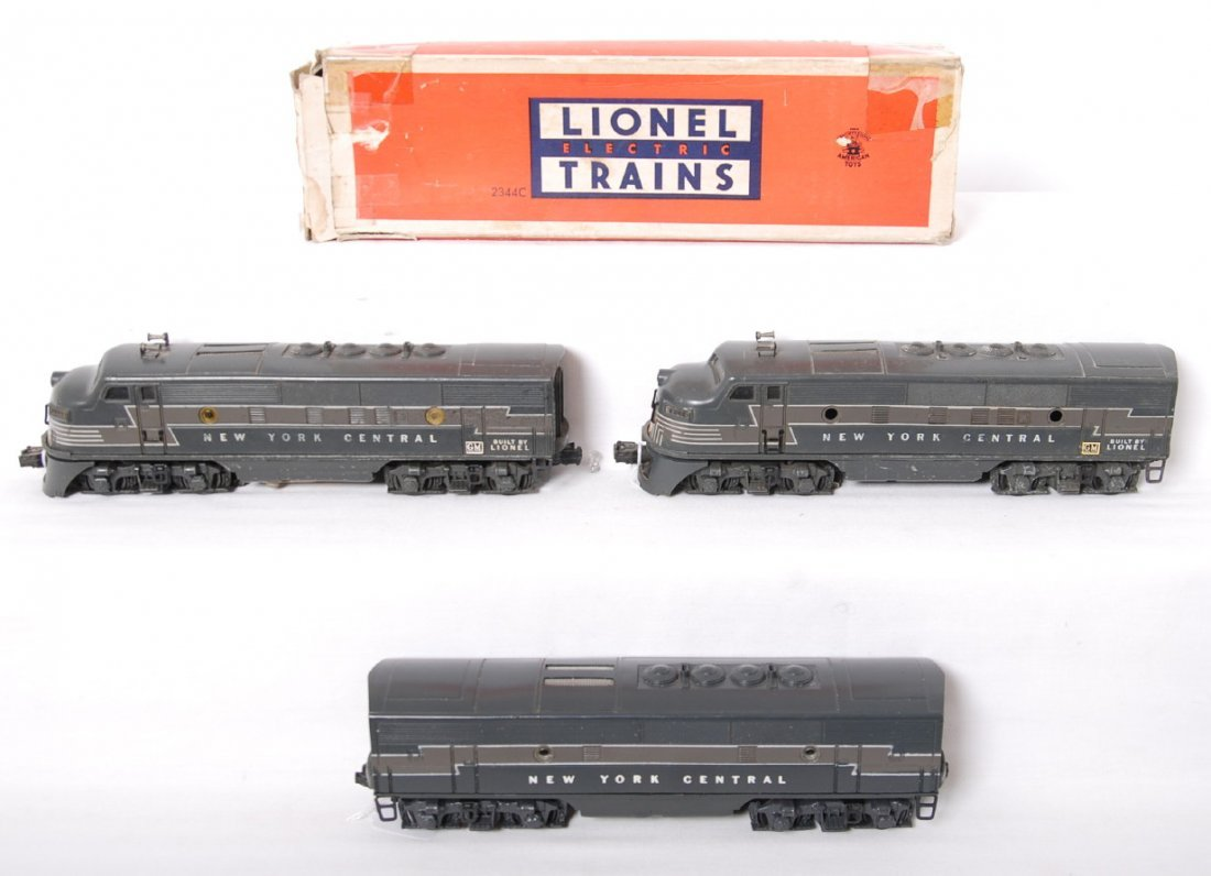 Lionel 2344P, 2344C, 2344T New York Central EMD F3