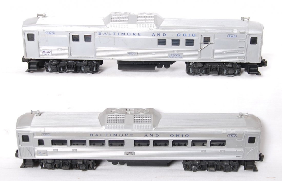 Lionel 400 and 404 Budd RDC trains