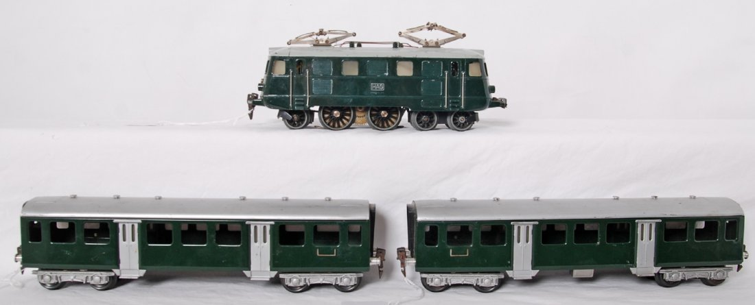 HAG Switzerland electric loco and two passenger cars