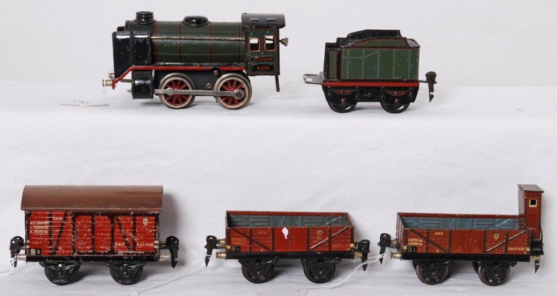 Marklin R880, 889/0, steam freight set