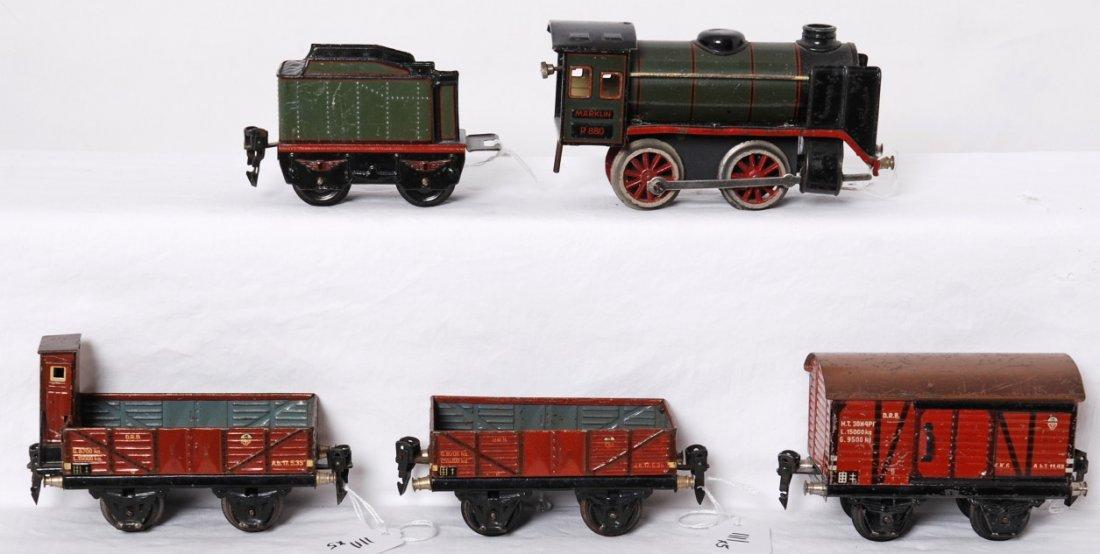 Marklin R880, 889/0, steam freight set - 2