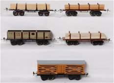 Five Ives prewar O gauge eight wheel freight cars