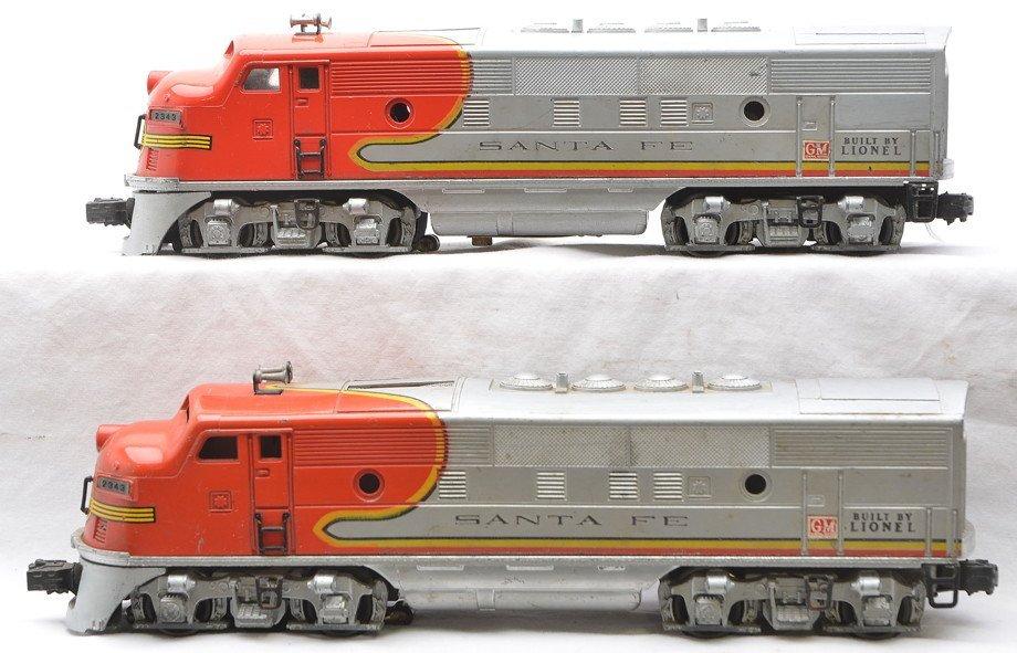Lionel 2343 Santa Fe F3 AA Diesel Units