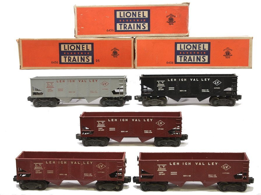 Lionel LV 6456-25 3-6456 Maroon 6456 Hoppers