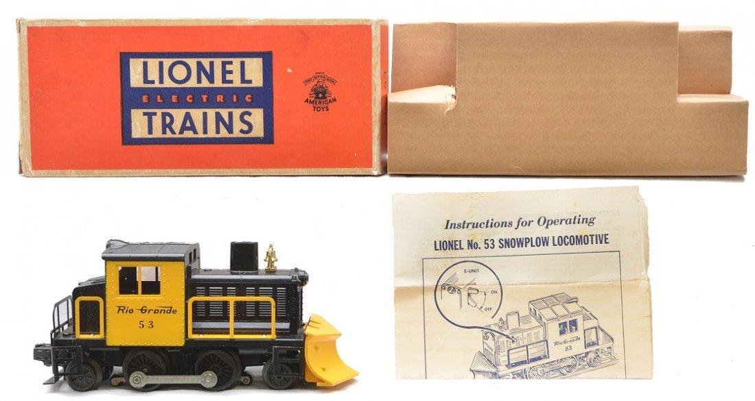 Lionel no. 53 Rio Grande Snowplow Boxed