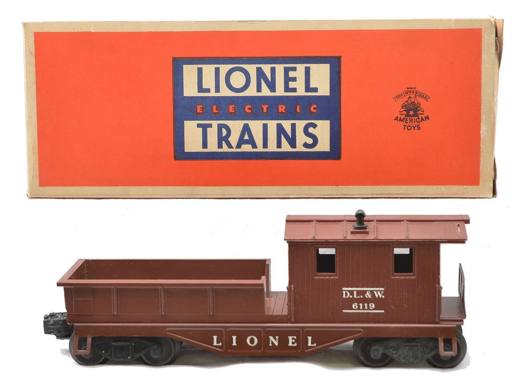 Lionel 6119-50 Brown DL&W Work Caboose MIB