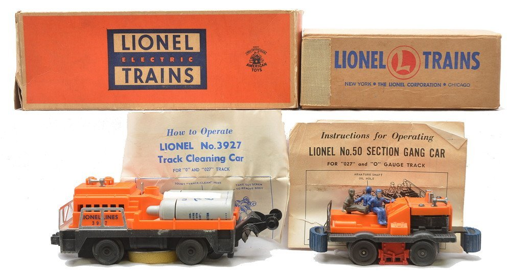Lionel 50 Gang Car 3927 Track Cleaning Car OBs
