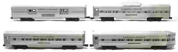 Lionel Aluminum Pass Cars 2530 2533 2532 2531