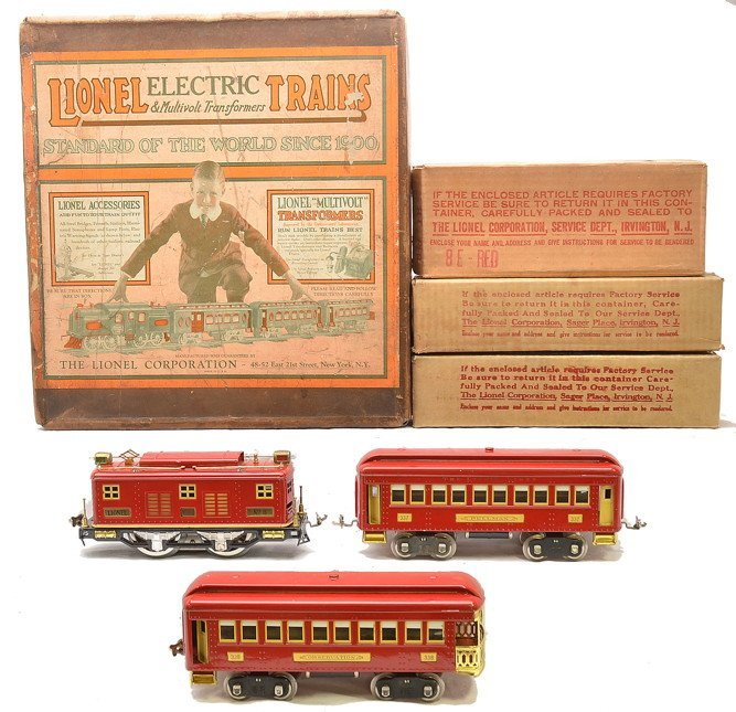 Lionel Std. Ga. Red Passenger Set no. 347 OBs