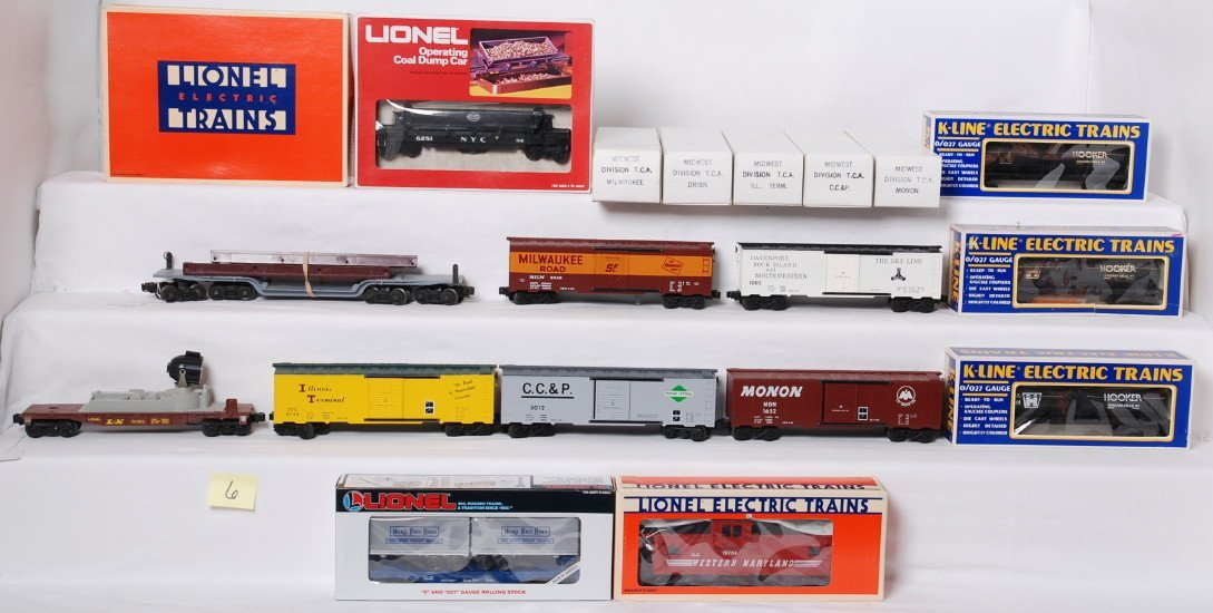 14 Lionel, K Line and TCA cars