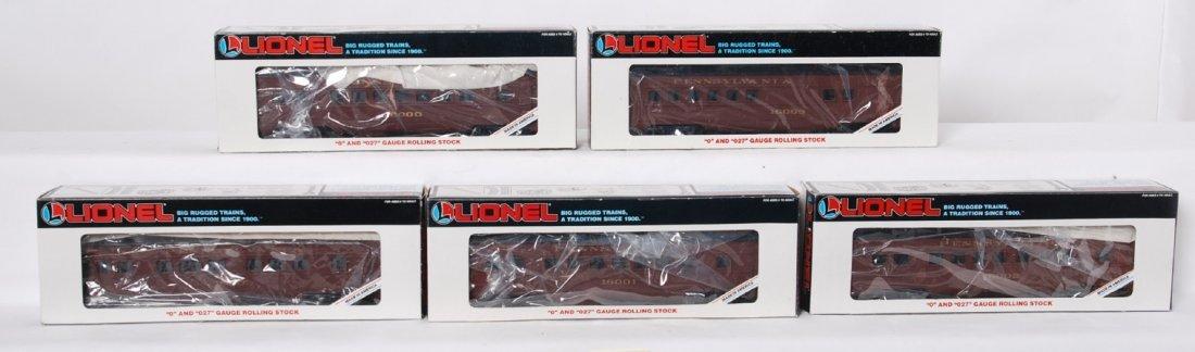5 Lionel Pennsylvania passenger cars 16000, 16003,