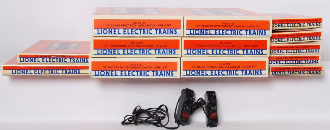 Lionel O gauge switches, RCS track, crossovers, etc