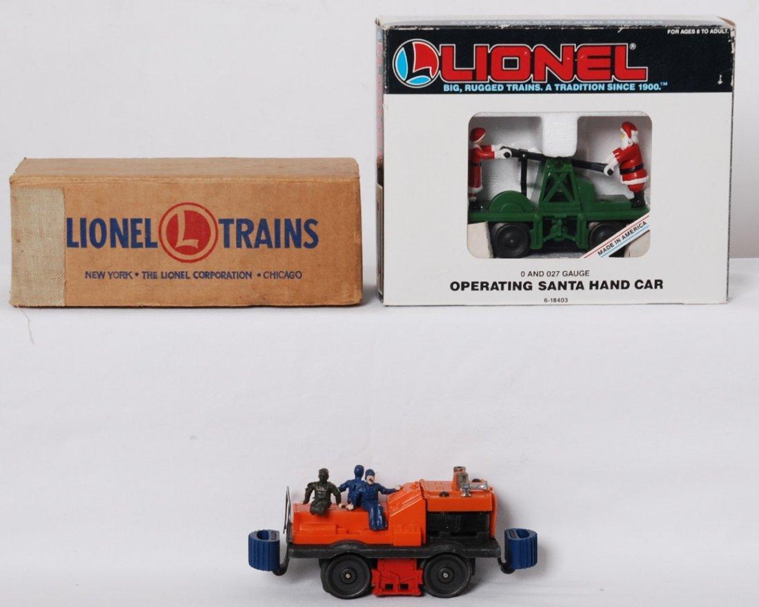 Lionel 50 gang car and 18403 Santa hand car
