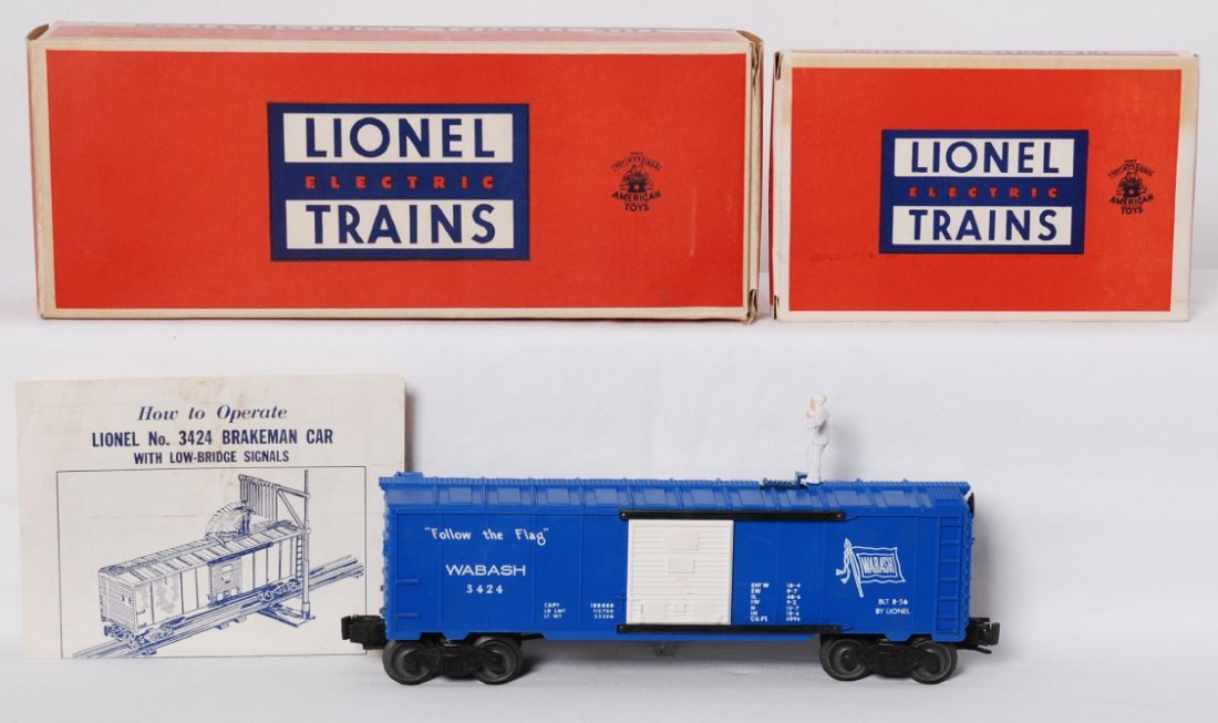 Lionel 3424 Wabash operating boxcar in OB