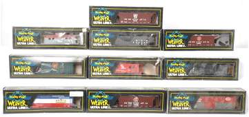 10 Weaver freight cars NYC PRR etc