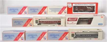 11 various O gauge cars Atlas, Weaver, Bev Bel, etc