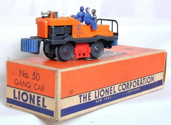 6: Lionel 50 gang car with center horn , OB