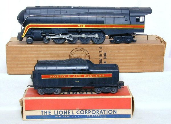 8: Lionel 746 Norfolk and Western J class, OB
