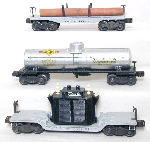 12: Lionel 2411, 2461 and 2555 cars