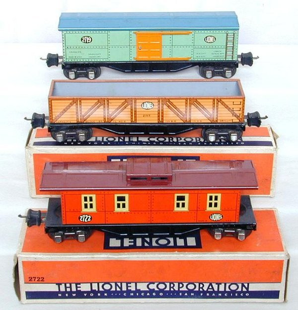 14: Lionel prewar 2717, 2719 and 2722, OB