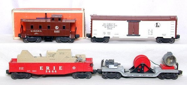17: Lionel 3444, 3662, 3650 and 6457 cars