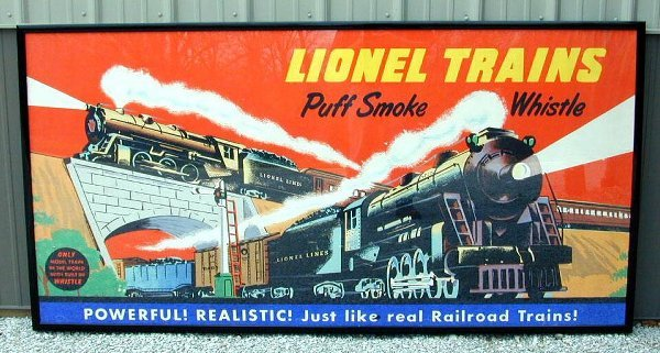 281: Original postwar Lionel dealer poster