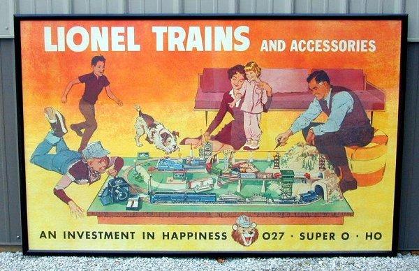 282: Original Lionel postwar dealer poster