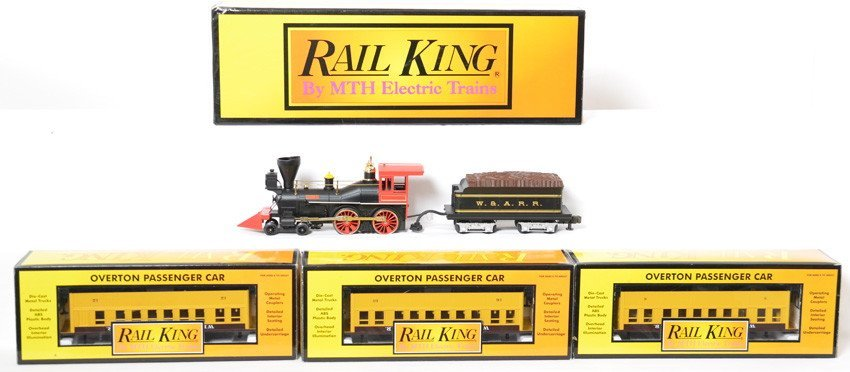 Railking General loco and WARR passenger cars