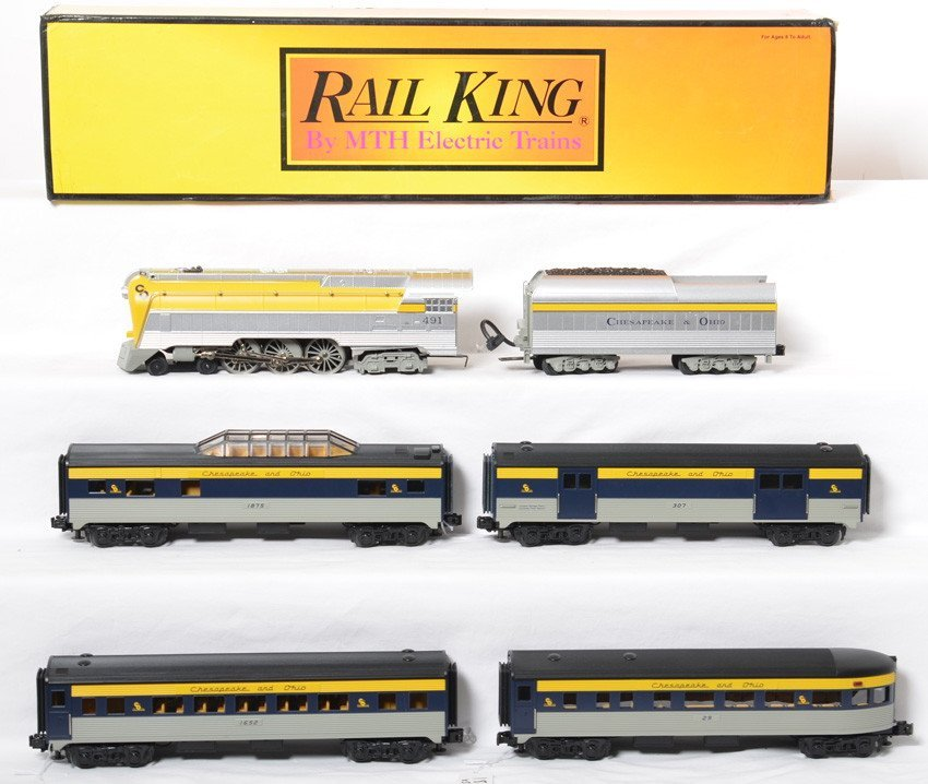 Railking Chesapeake and Ohio Yellow Belly and passenger
