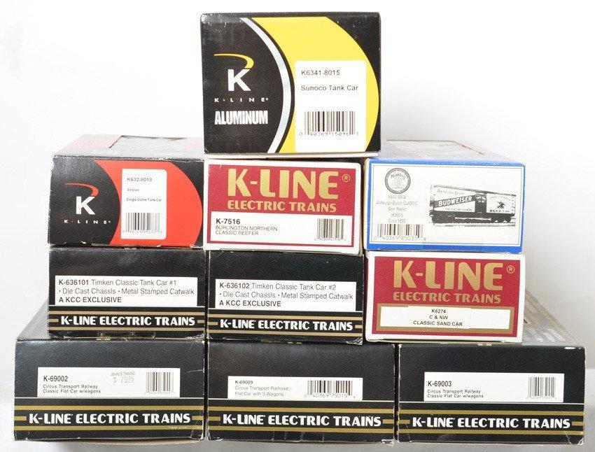 10 K Line freight cars Sunoco, Budweiser, Circus, etc - 2